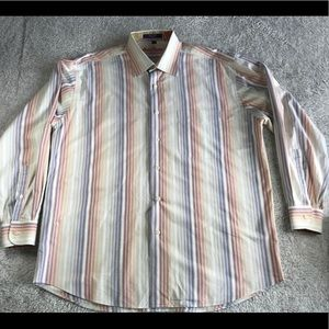Alan Flusser Shirts - Alan Flusser Striped Dress Shirt L